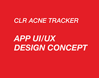 CLR Acne Tracker App UI/UX Design