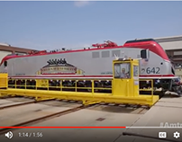 Amtrak ACS64 Veterans Locomotive film