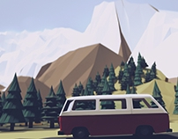 Van & mountains
