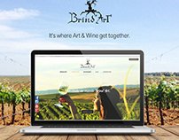 Brind'Art Winery Website