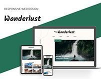Wanderlust - Travel magazine, responsive website