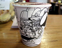 Raglan Roast Coffee Cup Design www.raglanroast.co.nz