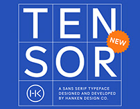 Tensor Typeface