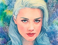 Amber Heard watercolor