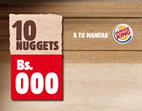 Propuestas de Campaña Combo de Nuggets Burger King