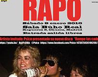 Cartel para el festival de rap y poesía, RAPO (VI)