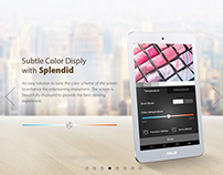 ASUS MEMO PAD 8  Website Design