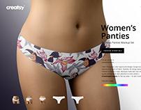 Women's Panties Mockup Set