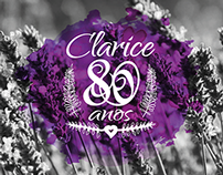 Invitation Clarice's 80th Birthday