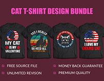 Best Cat T-Shirt Design Bundle