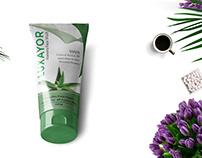 Aloevera Face wash Cream Label Design