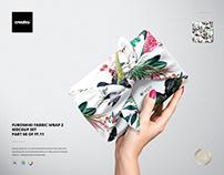 Furoshiki Fabric Wrap 2 Mockup Set
