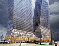 0801/V Towers in Hangzhou (China)_Competition