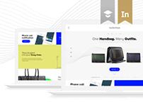 VanDerWaals Handbags / Website Concept