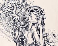 Beginnings & ends - Illustration drawing