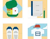 Symbols of Japanese School