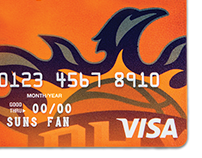 Phoenix Suns Visa Credit Card from NBAZ