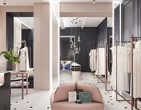 Bridal boutique design. Odessa.