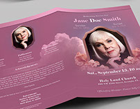 Funeral Program Booklet Template