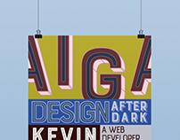 AIGA Maryville, Design After Dark Series Poster 1