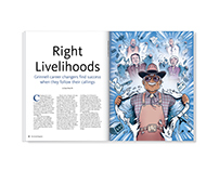 Right Livelihoods – magazine feature design