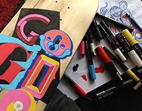 Skateboard Lettering