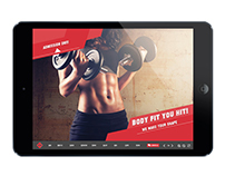 Interactive Gym Fitness Health Template