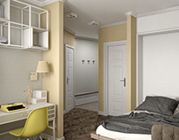 small apartment with a bed transformer