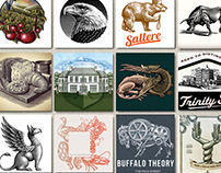 Scratchboard Hand-Crafted Illustrations by Steven Noble