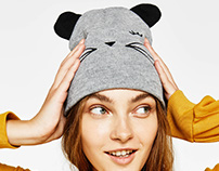 Beanie cat for Bershka