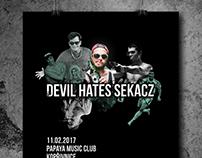 DEVIL HATE SEKACZ - poster