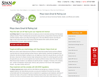 Targeted Misys End User List from Span Global Services