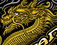 "Wu-Tang Clan ""Dragon"" T-shirt illustration"
