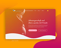 Webdesign for midwives office and women's health center