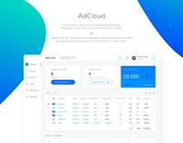 AdCloud SaaS service UX/UI design