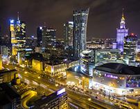 """""""Warsaw by night"""" - projekt własny"""