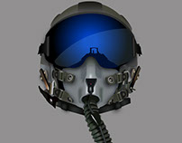Vector Gradient Mesh Fighter Pilot Helmet