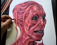 Red ghost from Crimson Peak