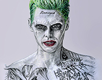 Mr Joker in realistic-cartoon style