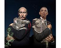 Putin & Obama Down Under