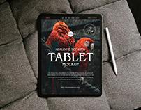 Free Realistic Tablet Mockup