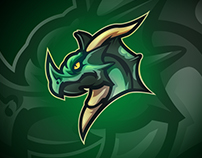 The Great Dragon Mascot Logo