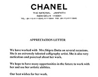 Letter of Appreciation...