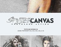 SPLATTER CANVAS - FREE PHOTOSHOP ACTION