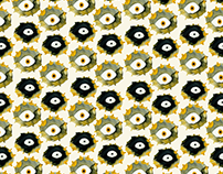 yellow,black,and orange patterns