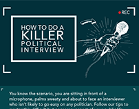 How to do a killer political interview-infographic