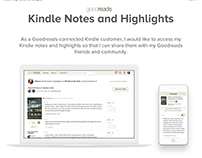 Kindle Notes and Highlights on Goodreads