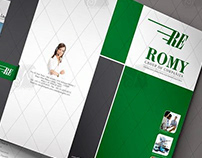 Logistic Packager & Mover Folder Designs A4 Size offset