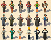 LOW POLY PEOPLE -2-