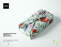 Furoshiki Fabric Wrap Mockup Set
